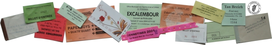 Tickets des manifestations folk